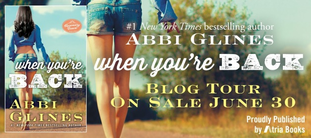 When You're Back blog tour banner